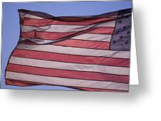 An American Flag At Sunrise Greeting Card