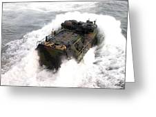 An Amphibious Assault Vehicle Greeting Card