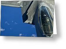 An F-22 Raptor In Flight Greeting Card