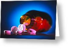 Analgesic Pills Greeting Card