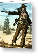 Anne Bonny, 18th Century Pirate Greeting Card