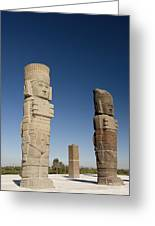 Atlantes Warrior Statues Greeting Card