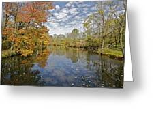 Autumn Colors On The Delaware And Raritan Canal Greeting Card