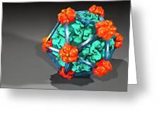 Bacteriophage Alpha 3, Artwork Greeting Card
