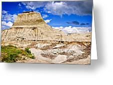 Badlands In Alberta Greeting Card