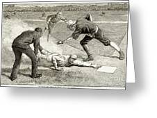 Baseball Game, 1885 Greeting Card