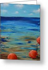 Beach Buoys Greeting Card