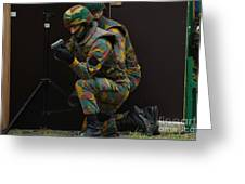 Belgian Paracommandos Entering Greeting Card