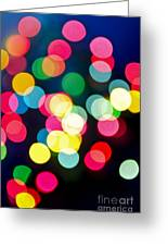 Blurred Christmas Lights Greeting Card by Elena Elisseeva