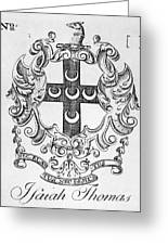 Bookplate, 18th Century Greeting Card