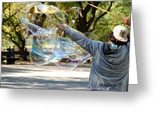 Bubble Boy Of Central Park Greeting Card