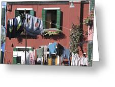 Burano. Venice Greeting Card