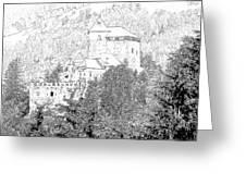 Burg Reifenstein Sterzing Italy Greeting Card