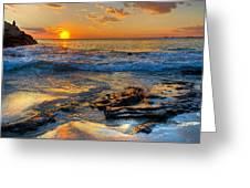 Burns Beach Wa Greeting Card by Imagevixen Photography