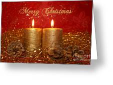 2 Candles Christmas Card Greeting Card