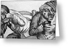 Caricature Of Two Alcoholics, 1773 Greeting Card