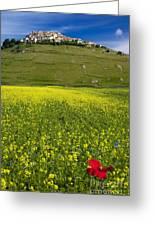 Castelluccio Umbria Greeting Card
