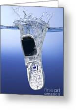 Cell Phone Dropped In Water Greeting Card