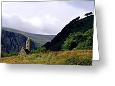 Chapel Of Saint Kevin At Glendalough Greeting Card
