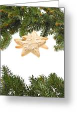 Christmas Cookies Decorated With Real Tree Branches Greeting Card