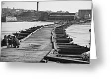 Civil War: Pontoon Bridge Greeting Card