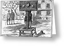Colonial Pillory - To License For Professional Use Visit Granger.com Greeting Card