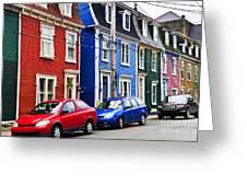 Colorful Houses In St. John's Greeting Card