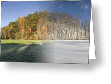 Composite Of Fall And Winter Greeting Card