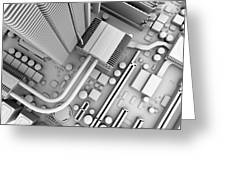 Computer Motherboard, Artwork Greeting Card