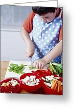 Cooking A Stir Fry Greeting Card