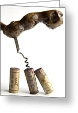 Corks Of French Wine. Greeting Card