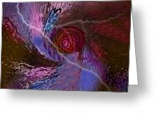 Creation Of A Rose  Greeting Card
