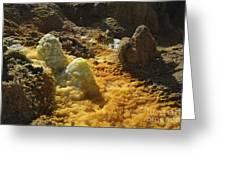 Dallol Geothermal Area, Danakil Greeting Card