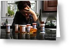 Depression And Addiction Greeting Card