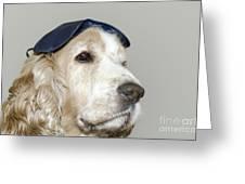 Dog With A Sleep Mask Greeting Card