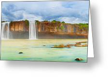 Dry Nur Waterfall Greeting Card