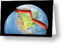 Earth Layers, Artwork Greeting Card