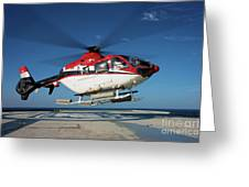 Eurocopter Ec135 Utility Helicopter Greeting Card