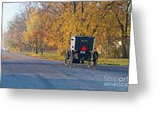 Fall Buggy Greeting Card