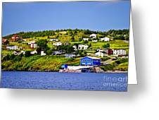 Fishing Village In Newfoundland Greeting Card