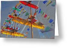 Flags Of Gasparilla Greeting Card