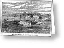Flood: Clarksville, 1874 Greeting Card