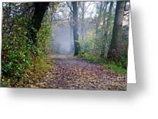 Foggy Road Greeting Card