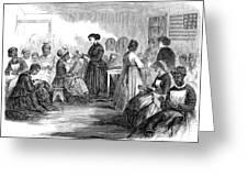 Freedmens School 1866 Greeting Card by Granger