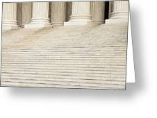 Front Steps And Columns Of The Supreme Court Greeting Card