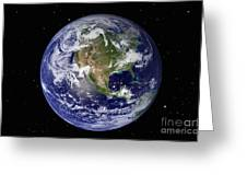 Full Earth Showing North America Greeting Card
