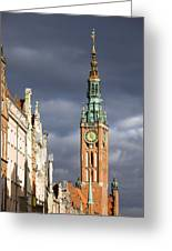 Gdansk Old Town Greeting Card by Artur Bogacki