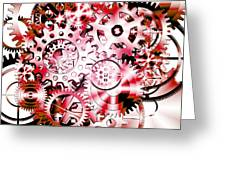 Gears Wheels Design  Greeting Card