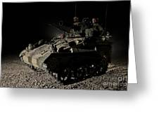 German Army Crew In A Wiesel 1 Atm Tow Greeting Card