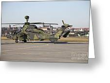 German Tiger Eurocopter At Fritzlar Greeting Card